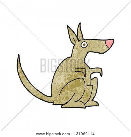freehand textured cartoon kangaroo