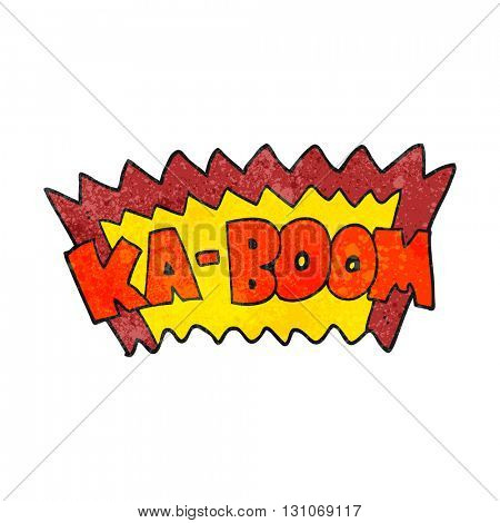 freehand textured cartoon comic book explosion