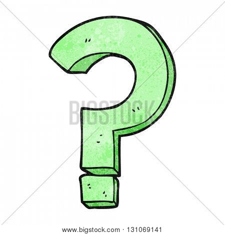 freehand textured cartoon question mark