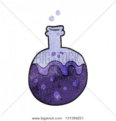 freehand textured cartoon magic potion