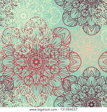 Seamless pattern. Decorative floral pattern in beautiful colors. Vector illustration