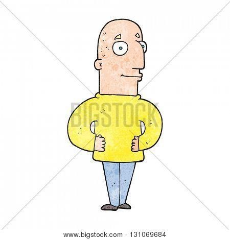 freehand textured cartoon content man