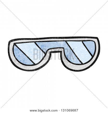 freehand textured cartoon glasses