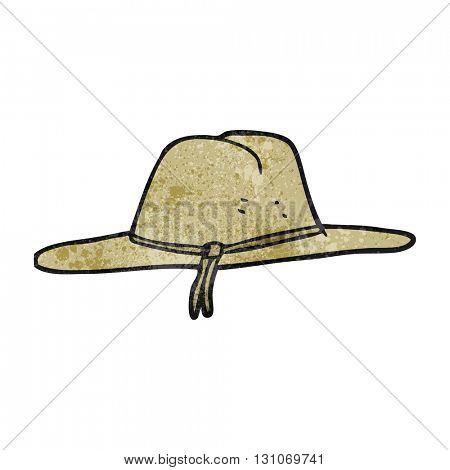 freehand textured cartoon hat