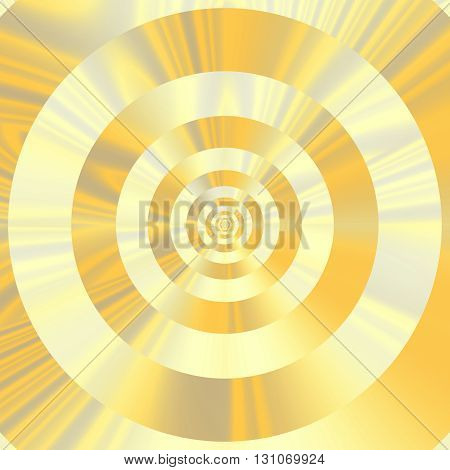 Tints of gold. Concentric circles. Abstract fractal design.