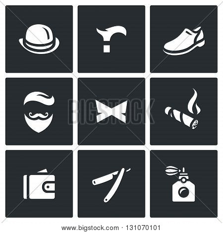 Items of clothing, accessories and personal belongings of a gent
