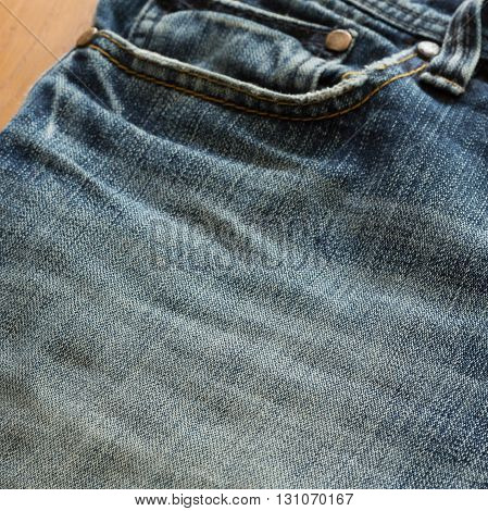design pocket of blue jeans, clothing industry