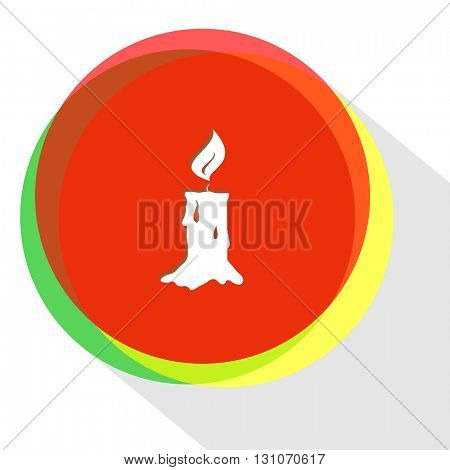 candle. Internet template. Vector icon.