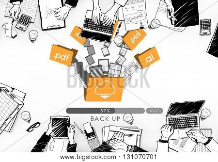 Cloud Networking Computing Back Up Concept