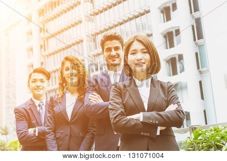Group of business people from different country