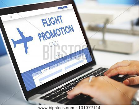Flight Promotion Offer Plane Traveling Concept