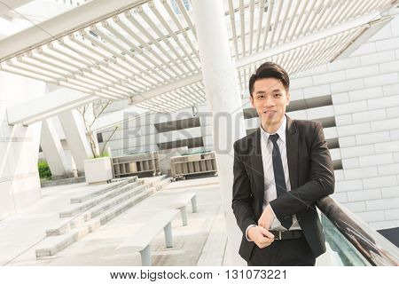 Businessman portrait in the outdoor