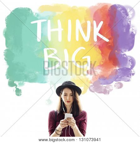 Think Big Attitude Creative Inspiration Optimism Concept