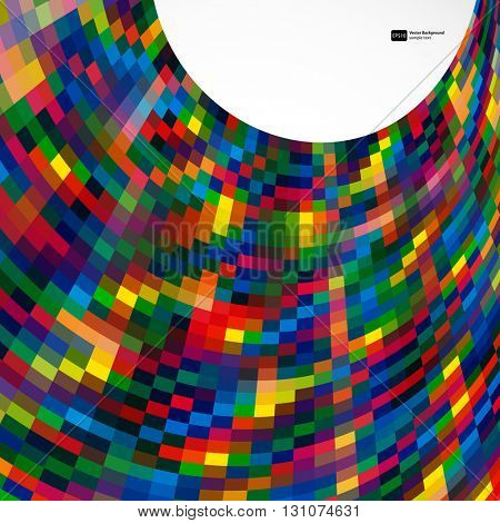 Multicolor abstract  background with bright elements for design. Eps10.
