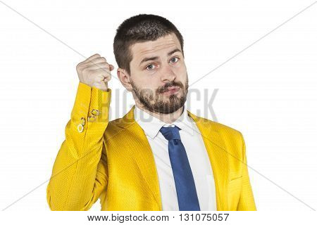 Businessman Threatens Fist