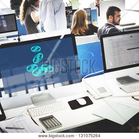 Invest Asset Networking Profit Revenue Social Concept