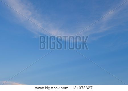 Image Blue Color Of Clear Blue Sky Background, Purity Air In The Morning