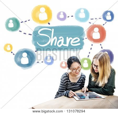 Share Sharing Connection Networking Concept