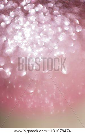 Abstract Pink Bokeh Light Celebration, Love Romantic Background