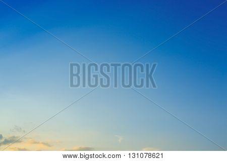 Beautiful Light On Clear Blue Sky
