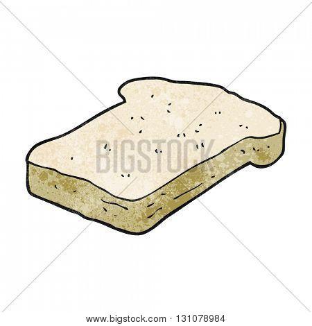 freehand textured cartoon bread slice