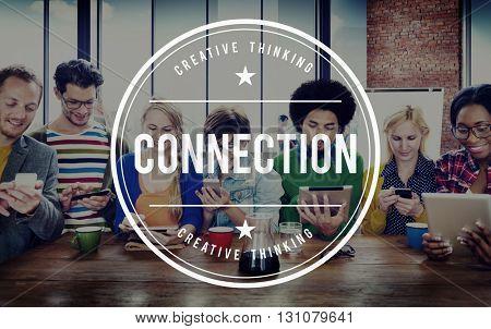 Connection Social Media Online Unity Concept