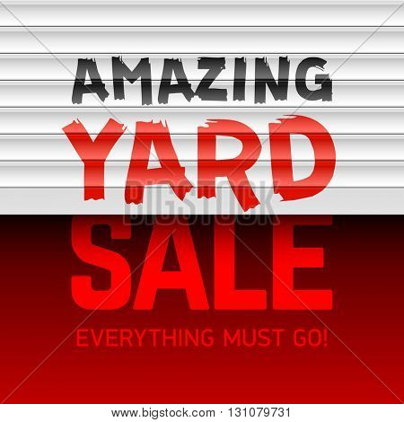 Amazing Yard Sale poster template vector illustration