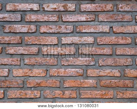 image of brick wall in close up texture