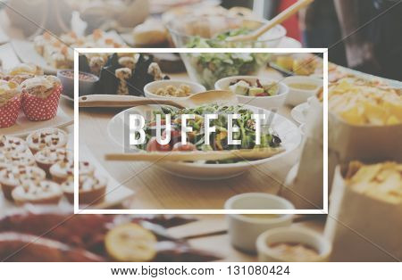Food Party Buffet Variety Dining Concept