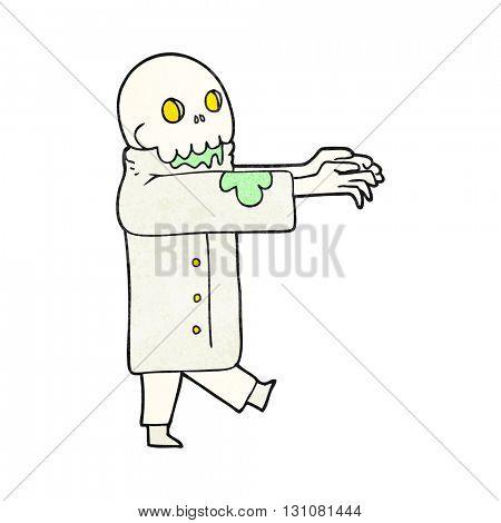 freehand textured cartoon zombie