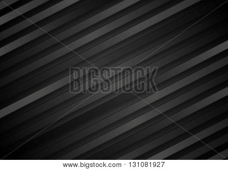 Abstract black diagonal stripes background. Vector dark striped graphic design illustration