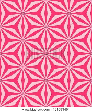 Seamless background with pink geometric pattern. Abstract vector illustration. Good background for wrapping paper website or textile.