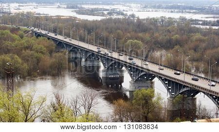 A view over the bridge of the Vladimir city in Russia