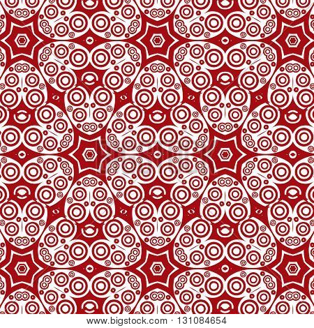 Primitive abstract Paisley pattern with lines and circles