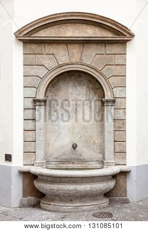 Water fountain downtown old Luzern (Lucerne) Switzerland