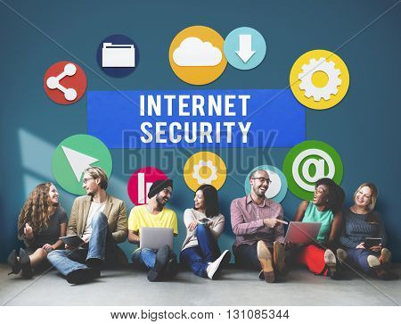 Internet Security Communication Technology Concept