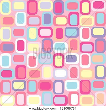 Seamless geometric background made of rectangles. Vector.
