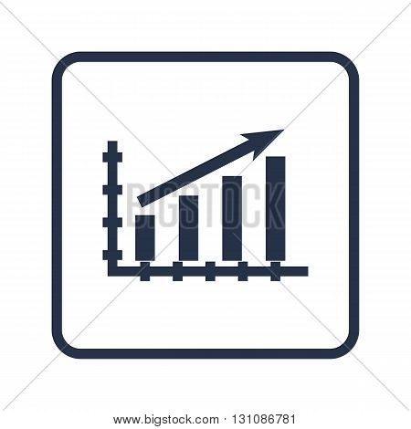 Stats Up Icon In Vector Format. Premium Quality Stats Up Symbol. Web Graphic Stats Up Sign On Blue R