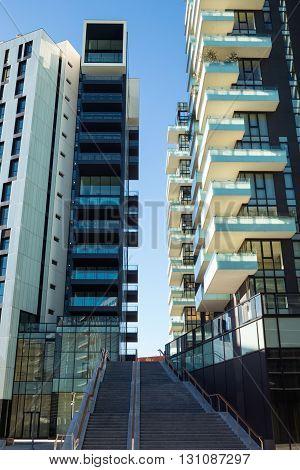 Milan Italy - January 25 2015: Porta Nuova the Three Residential Towers
