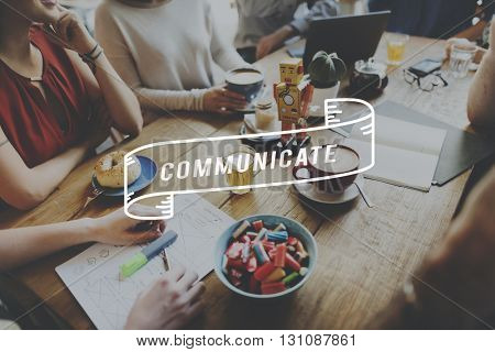 Communicate Communication Connection DIscussion Conversation Concept