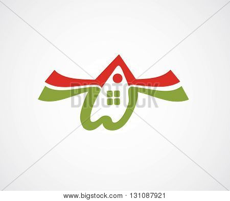 Abstract real estate and house icon with background