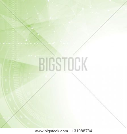 Green tech abstract background. Vector design illustration