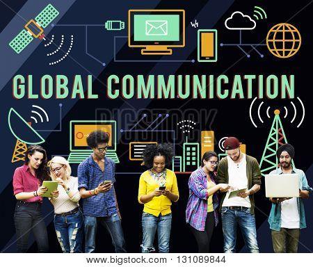 Global Communication Information Transfer Technology Concept
