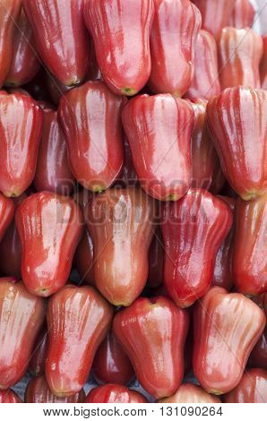 Rose apple for sale in the market, Thailand.