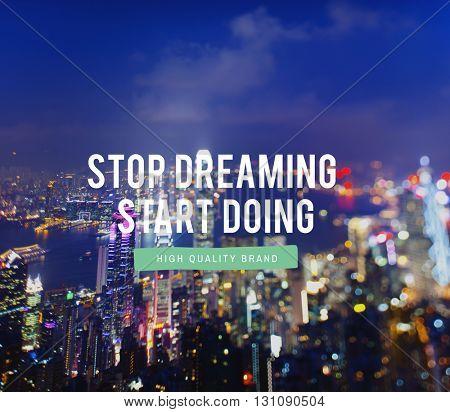 Start Business Imagination Motivation Dreaming Concept