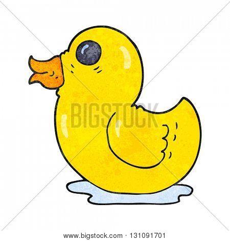 freehand textured cartoon rubber duck