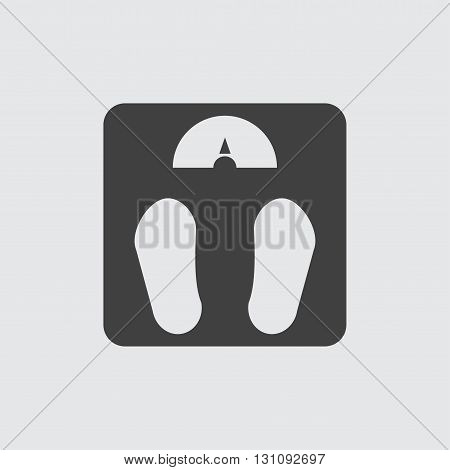 Weighing machine icon illustration isolated vector sign symbol