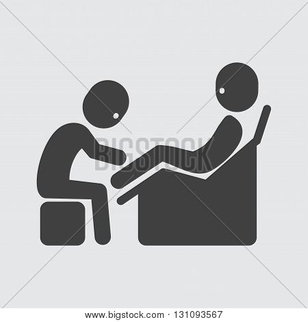 Foot massage icon illustration isolated vector sign symbol