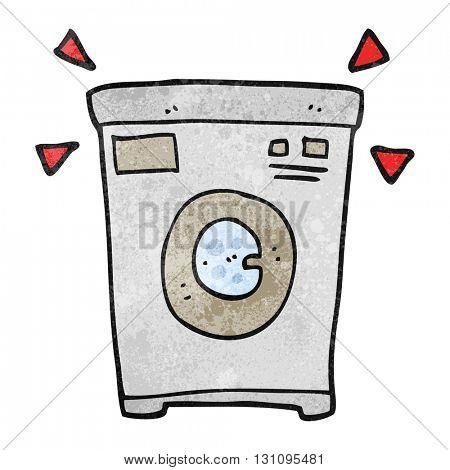 freehand textured cartoon washing machine