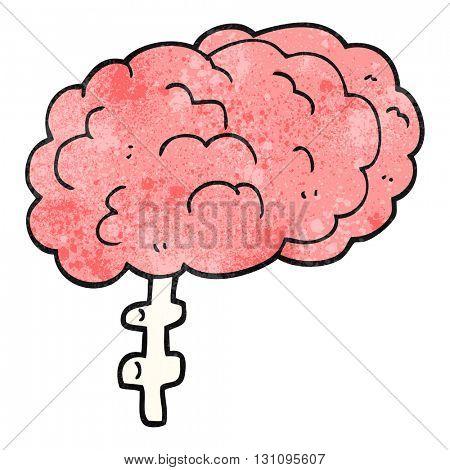 freehand textured cartoon brain